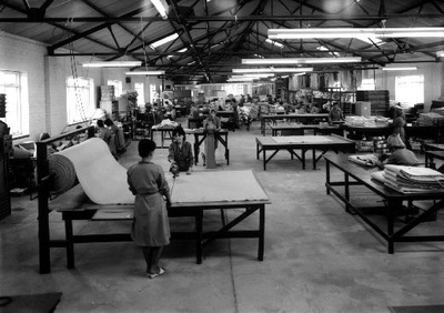 Image from object titled Making electric blankets at the Warmabed factory on Chapel Street, Knottingley.