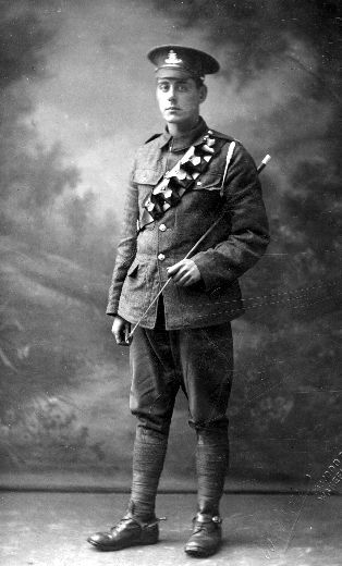 A photograph of an unidentified mounted trooper in the Royal Artillery.