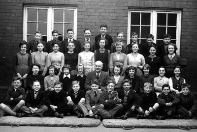 Image from object titled Airedale Secondary Modern School class 2A. Back Row: Frank Robinson, Fred Charles, Michael Rhodes, Ray Richardson, David Horsfall, Terry Johnson, Geoff North, Brian Weaver, Ronald Hill. 2nd to back...