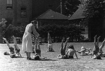 Unidentified school children.