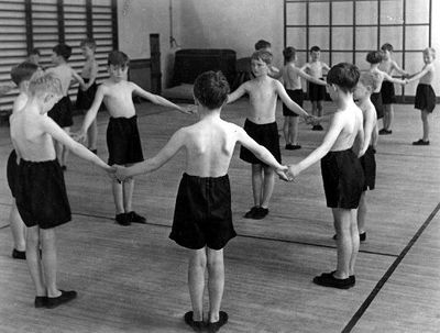 A children's Physical Education class at school.
