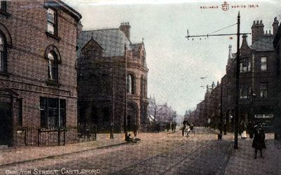 This postcard of Carlton Street, Castleford, was posted in 1911.