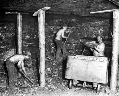 Image from object titled Unidentified miners.