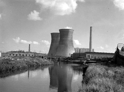 Image from object titled A view across the Calder Valley to Wakefield Power Station. Photograph courtesy of the Wakefield Express.