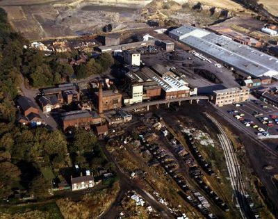 Image from object titled Nostell Colliery, aerial view.