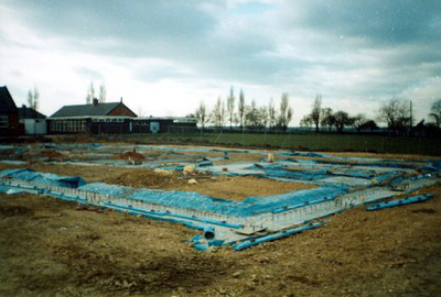 The new foundations. One of a series of photographs taken by Mr Kite, recording the construction of West End School, Hemsworth in 1995-6.