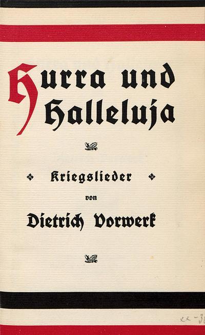 Image from object titled Hurra und Halleluja Kriegslieder