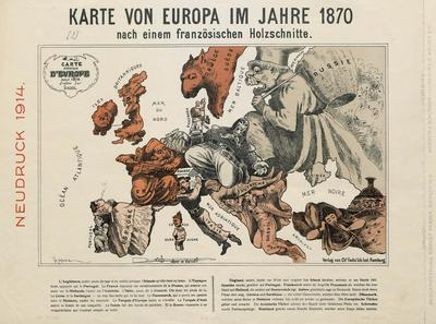 Image from object titled Karte von Europa im Jahre ... | [2] | Karte von Europa im Jahre 1870 nach einem französischen Holzschnitte
