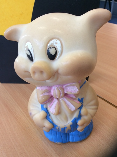 Image from object titled My toy pig from Uzbekistan