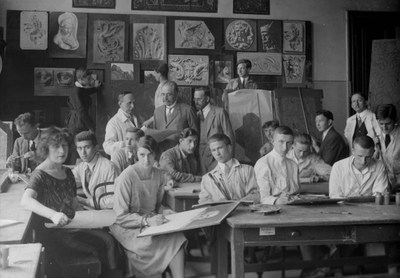 Image from object titled Drawing Room in the Metropolitan Municipal Technical Drawing School, Budapest