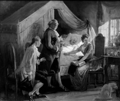 En trolovelse ved sygesengen