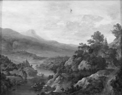 Image from object titled Landscape by the Rhine