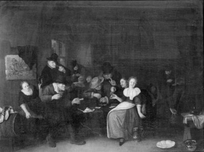 A Game of Cards at an Inn