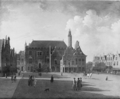 Marketplace at Haarlem, Looking towards the Town Hall