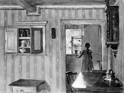 Interior with a Little Girl
