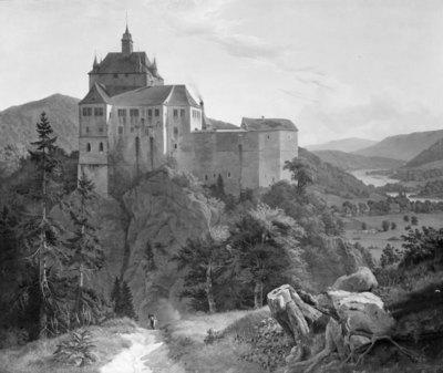 Kriebstein Castle at Zschoppau in Saxony. Morning