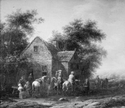 Horsemen by an Inn