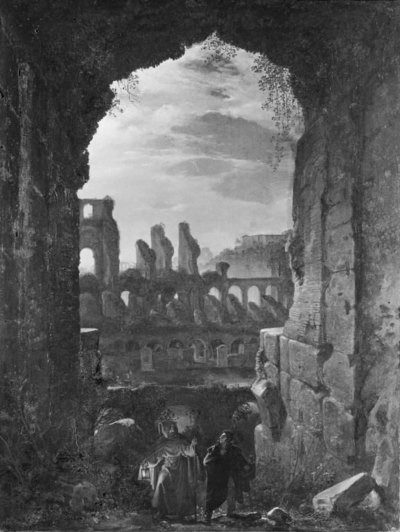 View of the Colosseum in Moonlight
