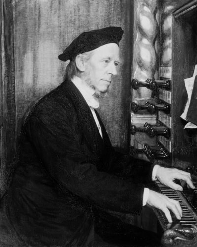 Domorganist i Roskilde, professor Hans Matthison-Hansen,kunstnerens svigerfader