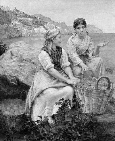 Frugtbærersker fra Amalfi, 1878-79