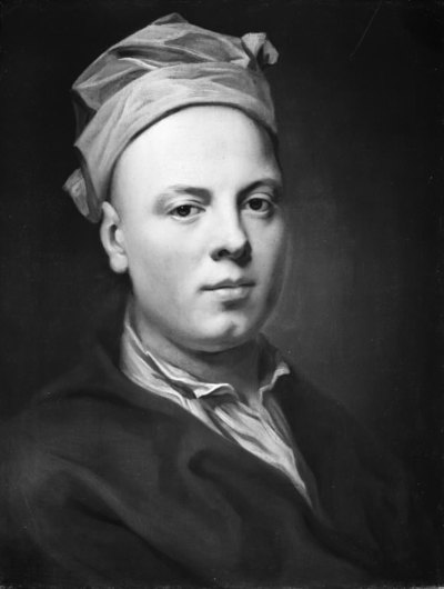 Portrait of a Young Man Wearing a White Cap