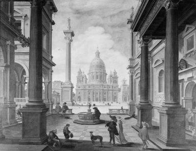 Square in front of a Magnificent Church; Square in front of a Renaissance Church (Saint Peter's Basilica, Rome)