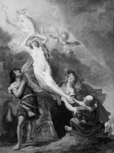 """Il Contento"". Mercury abducting the Goddess Contento from the Earth"