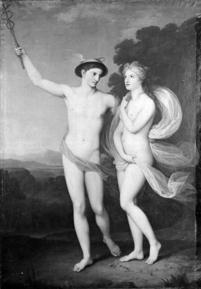 Merkur overtaler Psyke til at følge ham til guderne