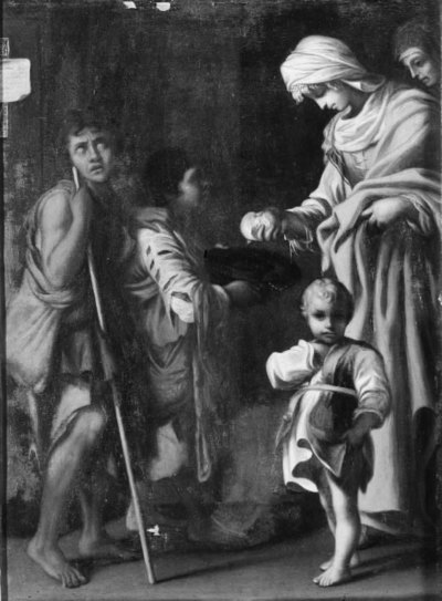 Image from object titled The Giving of Alms