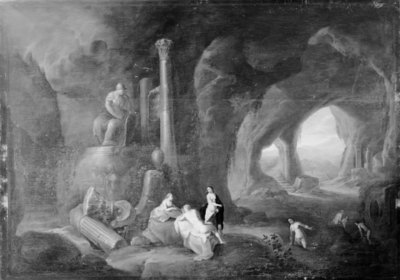 Seven Nymphs in a Grotto