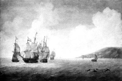 Naval Battle between Dutch and Spanish Ships of the Line