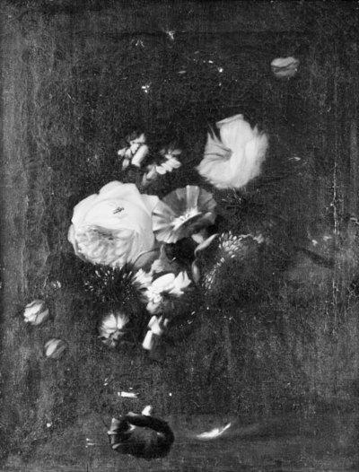 Flowers in a Glass Bottle