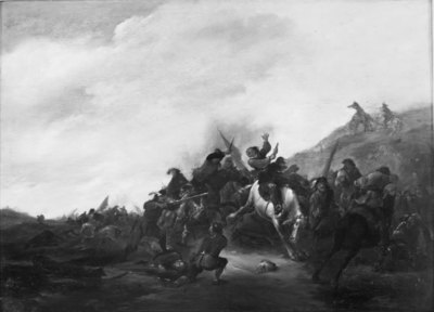 Skirmish between Cavalry and Infantry