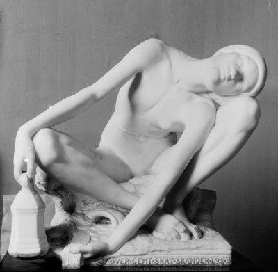 Hidden Treasure. Sitting Nude Girl