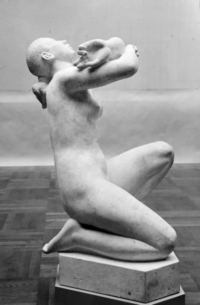 Yearning. Kneeling Female Nude