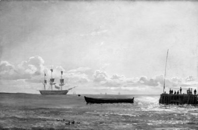 A Frigate at Anchor