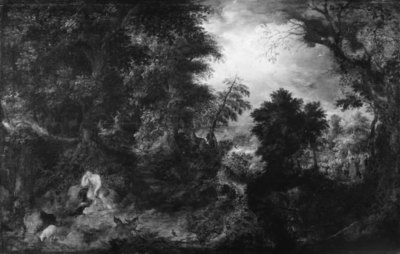 John the Baptist in the Wilderness. St. John Preaching and the Baptism of Christ