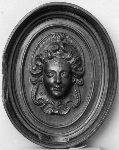 Kvindemaske; Antagelig Gabrielle d'Estrées