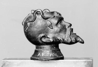Oil Lamp. Head of a Satyr(?)