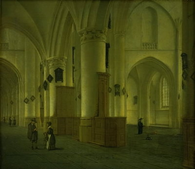 Side-Aisle at St Bavo Church in Haarlem