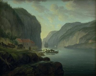 Svinesund nær Frederikshald i Norge
