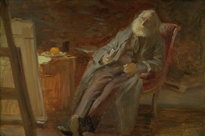 The Painter Vilhelm Kyhn Smoking his Pipe