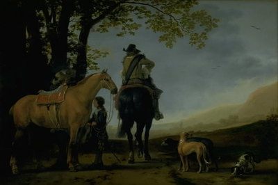Two Horsemen in a Landscape