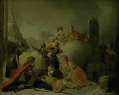 """Slutningsscenen af Johannes Ewalds """"Balders Død"""""""