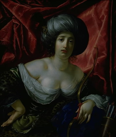 Woman Portrayed as the Goddess Diana