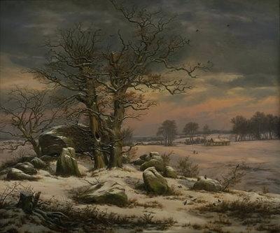 Winter Landscape near Vordingborg, Denmark