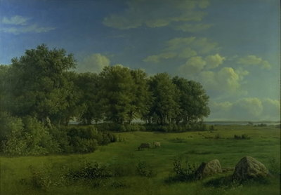 The Island of Brandsø with Wedellsborg Forest, Funen, in the Distance