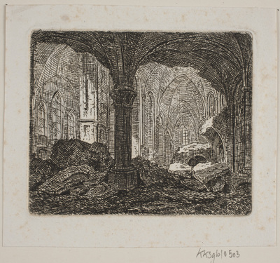 Interiør fra samme Ruin 1806