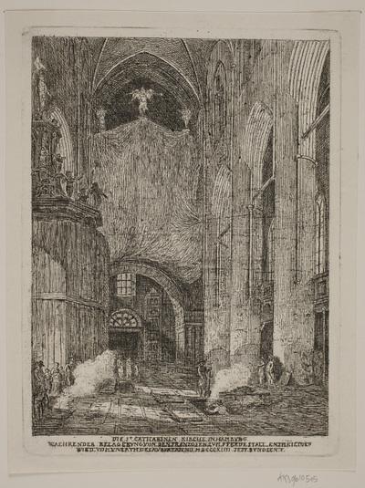 Det indre af St. Catharina Kirken i Hamburg