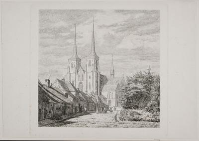 Roskilde Domkirke, set fra Sydvest